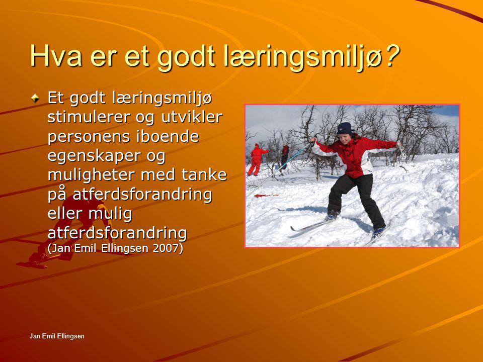 Hva er et godt læringsmiljø? Et godt læringsmiljø stimulerer og utvikler personens iboende egenskaper og muligheter med tanke på atferdsforandring ell