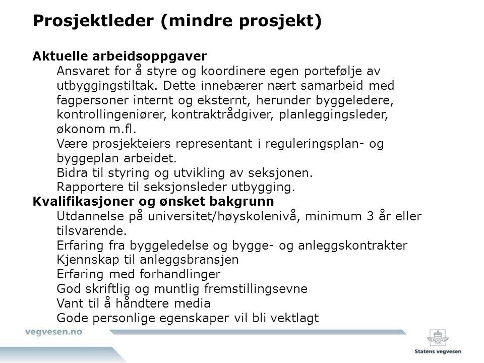 Norconsult :Sivilingeniør / ingeniør Vei og trafikk Vi søker sivilingeniør/ingeniør innenfor veiprosjektering.
