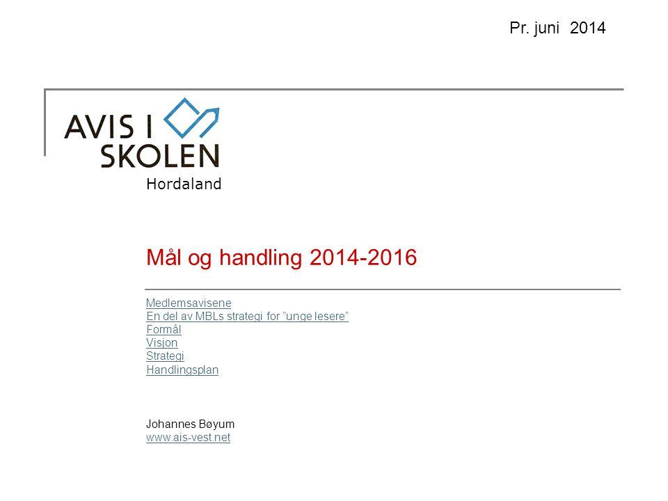Mål og handling 2014-2016 Hordaland Pr.
