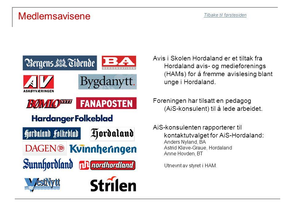 Medlemsavisene Avis i Skolen Hordaland er et tiltak fra Hordaland avis- og medieforenings (HAMs) for å fremme avislesing blant unge i Hordaland.