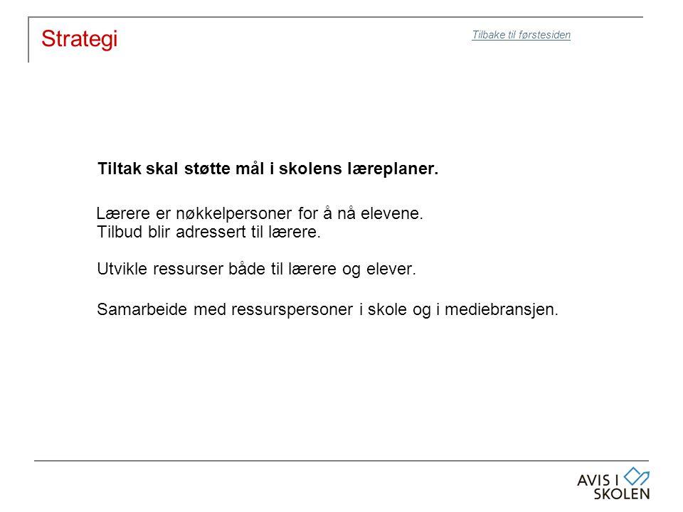 Evaluering AktiviteterEvalueringNår Vis med avisLokalt: Enkel tilbakemelding fra lærer: Opplevd læringsutbytte, engasjement, logistikk mm.