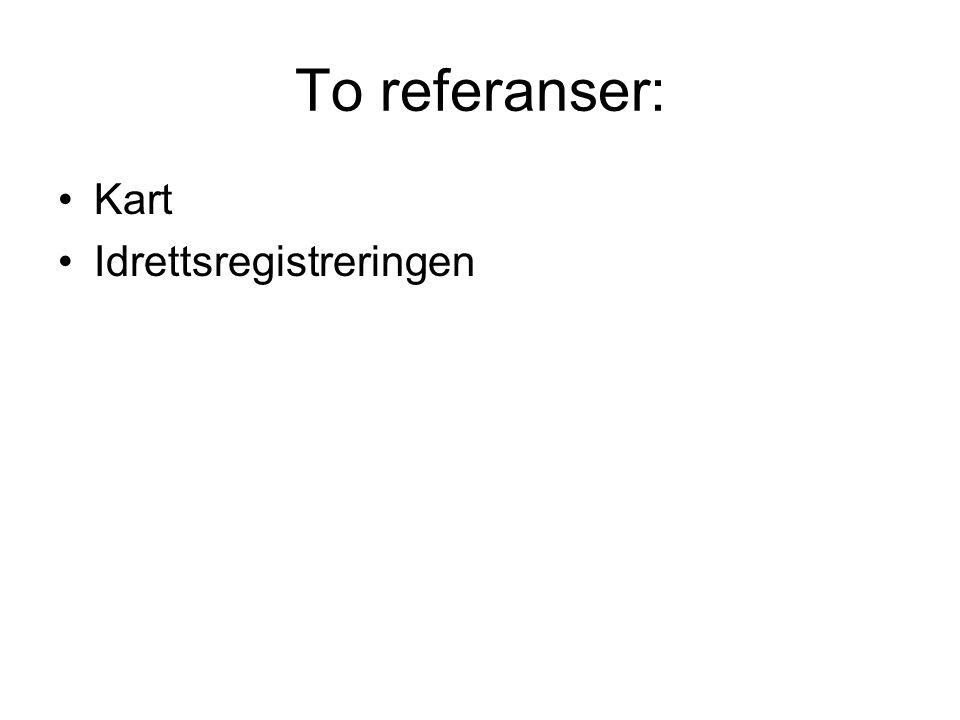To referanser: Kart Idrettsregistreringen