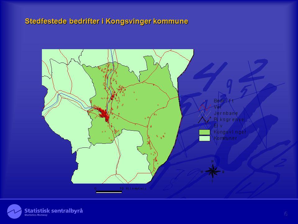 6 Stedfestede bedrifter i Kongsvinger kommune