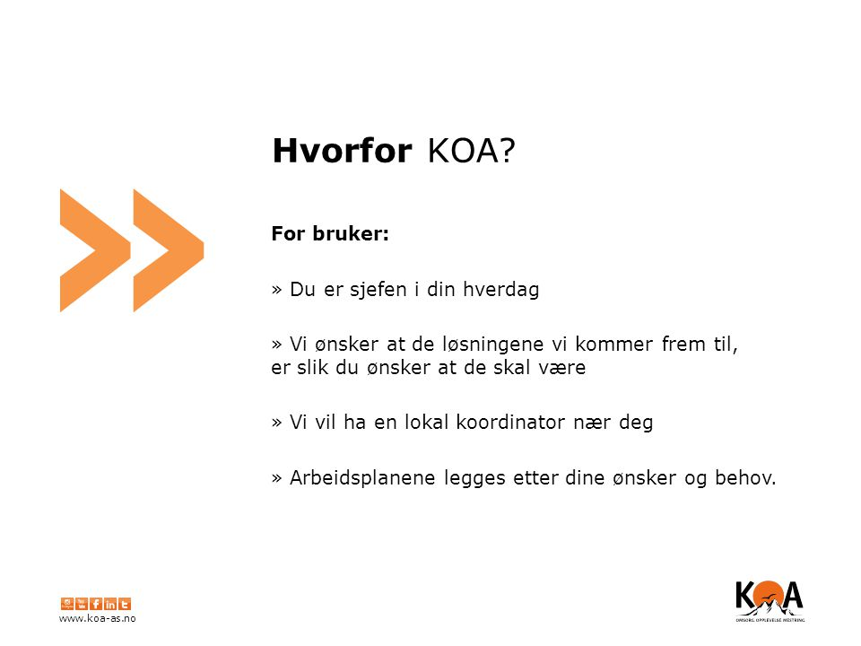 www.koa-as.no » Hvorfor KOA.
