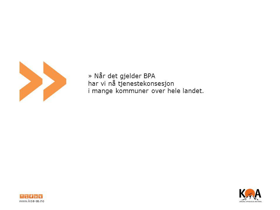 www.koa-as.no » » KOA ønsker å være en trygg oppdragsgiver, med fokus på kvalitet og tillit.