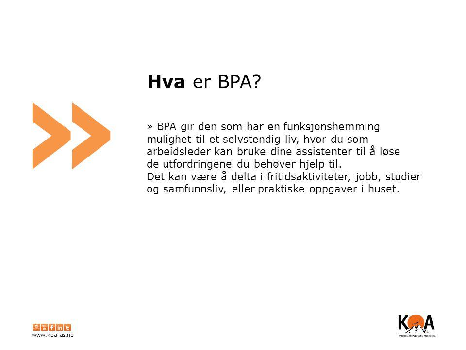 www.koa-as.no » Hva er BPA.