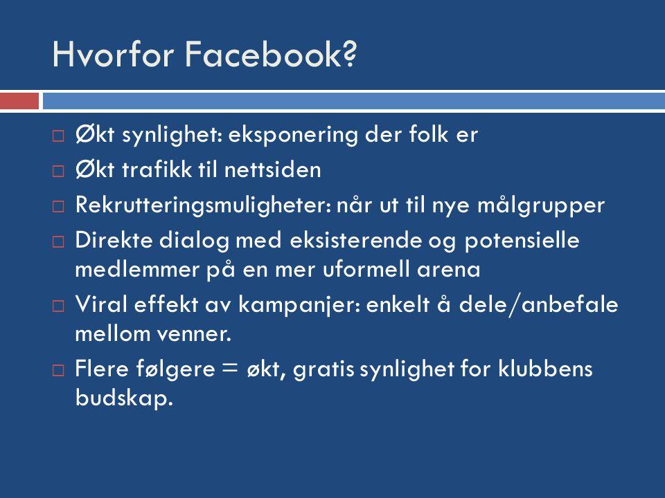 Hvorfor Facebook.