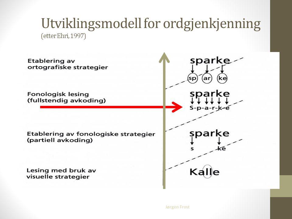 Jørgen Frost Utviklingsmodell for ordgjenkjenning (etter Ehri, 1997)
