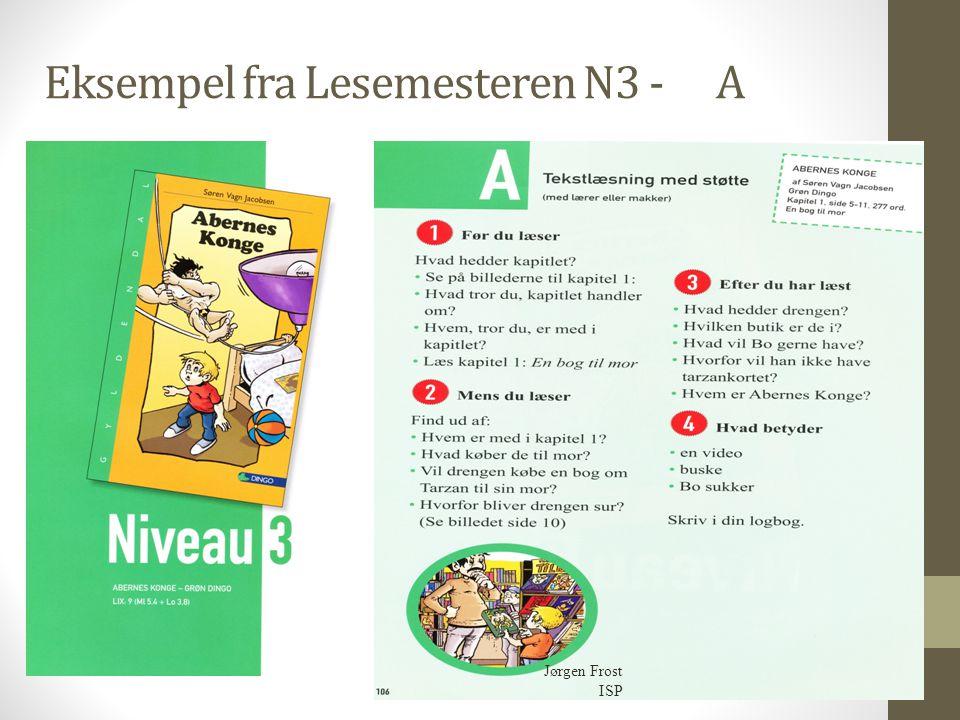 Eksempel fra Lesemesteren N3 -A Jørgen Frost ISP