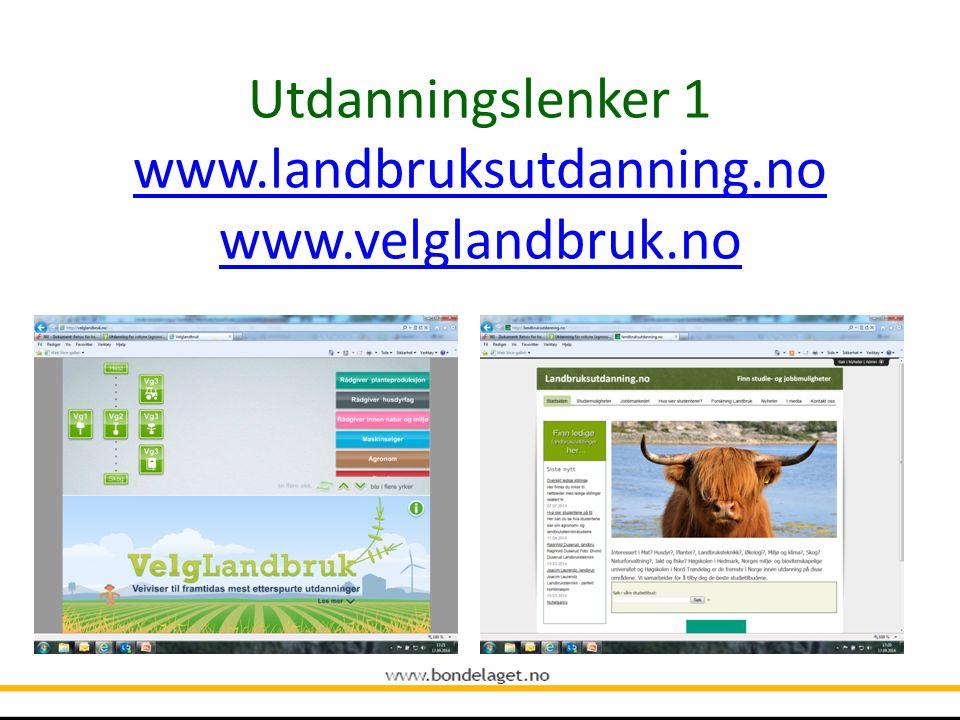 Høgskole / Universitet Norges miljø- og biovitenskaplige universitet Høgskolen i Hedmark Høgskolen i Nord-Trøndelag Høgskulen for landbruk og bygdeutv