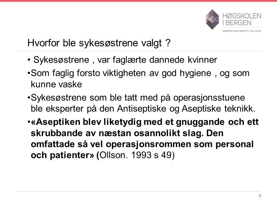 Operasjonssykepleie i Norge Marie Joys 1872-1944 F. 1872-19447