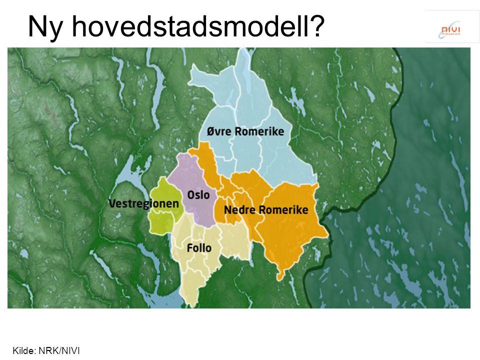 Ny hovedstadsmodell? Kilde: NRK/NIVI