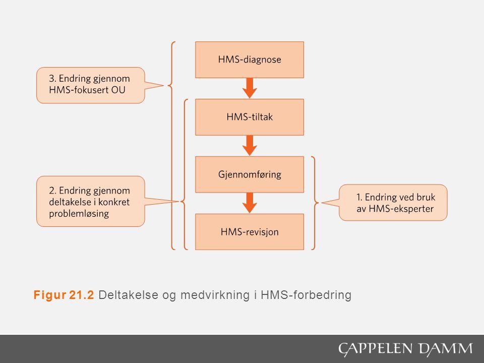 Figur 21.2 Deltakelse og medvirkning i HMS-forbedring