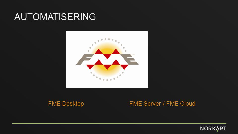 AUTOMATISERING FME DesktopFME Server / FME Cloud