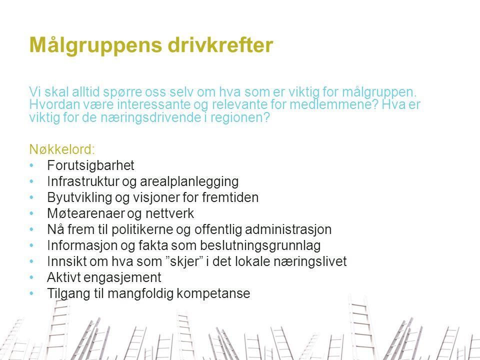 Kundeløfter 1.TNF skal være oppdatert på hva som rører seg i Tønsberg- regionens næringsliv 2.TNF skal engasjere seg i saker som er viktige for næringslivet generelt, og medlemmene spesielt 3.TNF skal være en premissgiver og tilrettelegger i næringspolitiske saker 4.TNF skal være åpen og inkluderende 5.TNF skal tenke langsiktig og strategisk 6.TNF skal være næringsfokusert og endringsorientert 7.TNF skal være en tydelig aktør og initiativtaker til prosjekter som er viktige for regionen 8.TNF skal synliggjøre medlemmenes suksesser