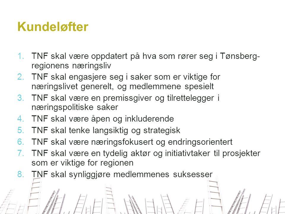 Overordnet mål TNF skal bidra til at Tønsberg utvikler seg som en attraktiv regionshovedstad for Vestfold.