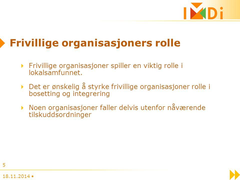Frivillige organisasjoners rolle Frivillige organisasjoner spiller en viktig rolle i lokalsamfunnet. Det er ønskelig å styrke frivillige organisasjone