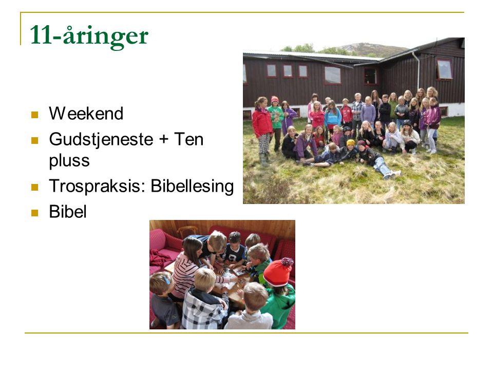 11-åringer Weekend Gudstjeneste + Ten pluss Trospraksis: Bibellesing Bibel
