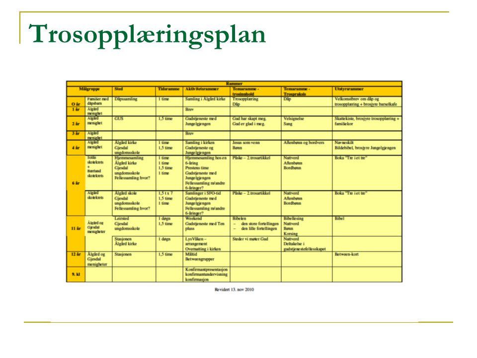 Trosopplæringsplan