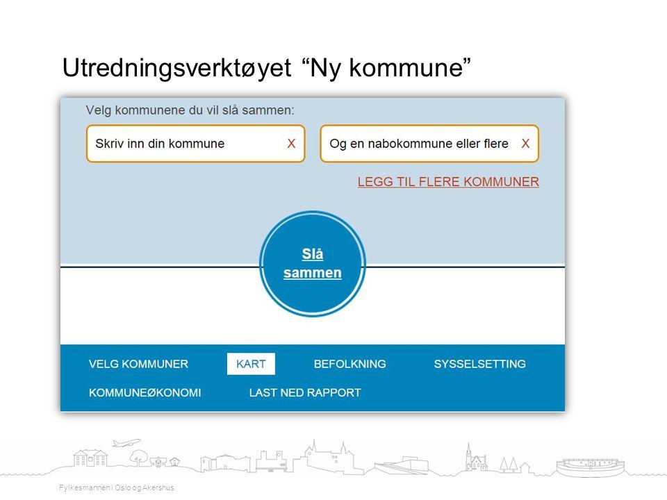"""Utredningsverktøyet """"Ny kommune"""" Fylkesmannen i Oslo og Akershus"""
