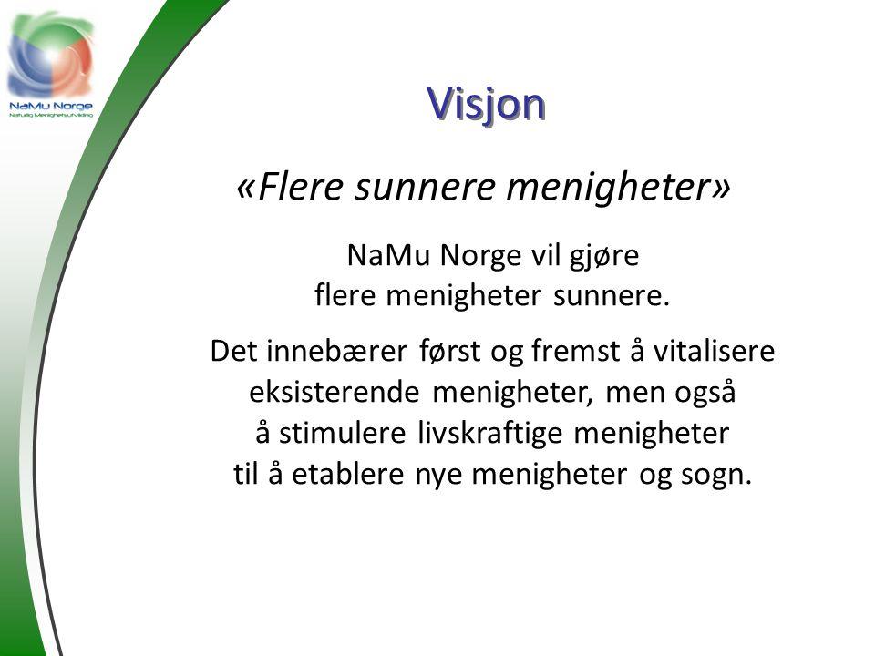 Visjon «Flere sunnere menigheter» NaMu Norge vil gjøre flere menigheter sunnere. Det innebærer først og fremst å vitalisere eksisterende menigheter, m