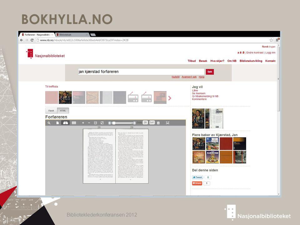 BOKHYLLA.NO Biblioteklederkonferansen 2012