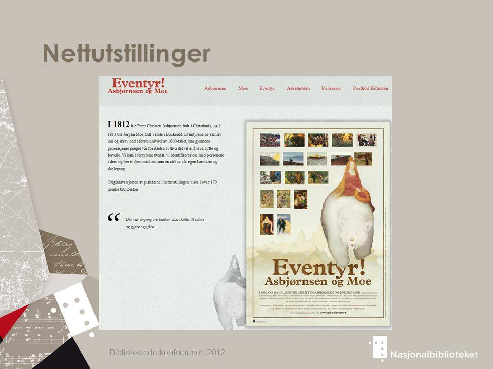Nettutstillinger Biblioteklederkonferansen 2012