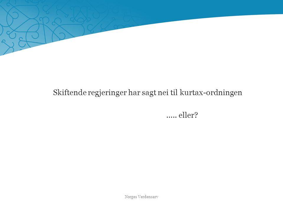 Skiftende regjeringer har sagt nei til kurtax-ordningen ….. eller? Norges Verdensarv
