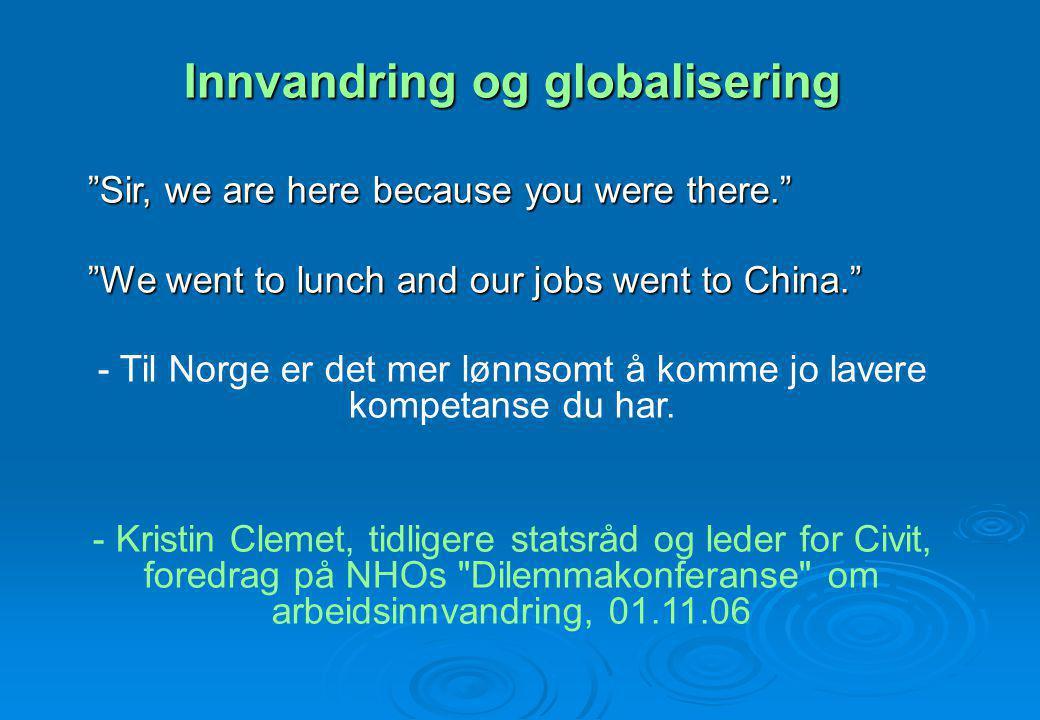 Om en ser tilbake på innvandringsdebatten de siste 35 årene, vil en finne at den norske befolkningen omtrent aldri får muligheten til å oppfatte innvandrerbefolkningen i andre begreper enn de som ser dem i motsetning til seg selv.