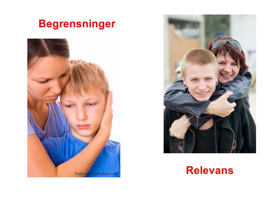 Begrensninger Foto: www.colorbox.com Relevans