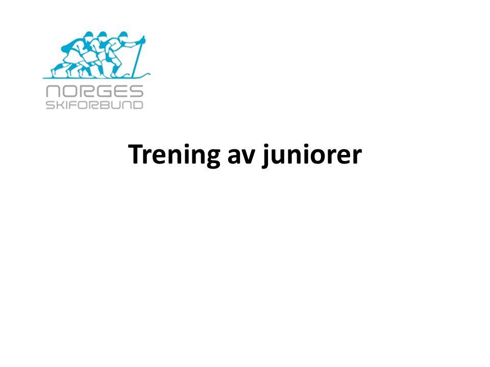 November- Desember Spesialtreningsperio de For juniorene er dette en viktig treningsperiode med begrenset konkurransevirksomhet, og der konkurranser regnes som viktige og spesifikke treningsøkter.