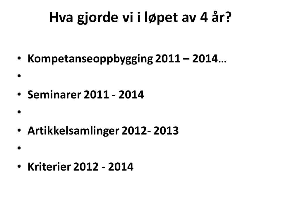 Artikkelsamlingene Yngve Nordkvelle, Trine Fossland og Grete Netteland (red) 2013.