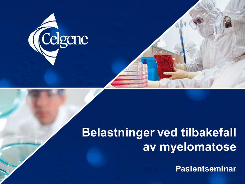 Agenda 2 1.Utgangspunkt for Belastninger ved tilbakefall-programmet ved myelomatose 2.Valgt metode / tilnærming for eksplorativ undersøkelse 3.Resultater (så langt) 4.Konklusjon og neste steg
