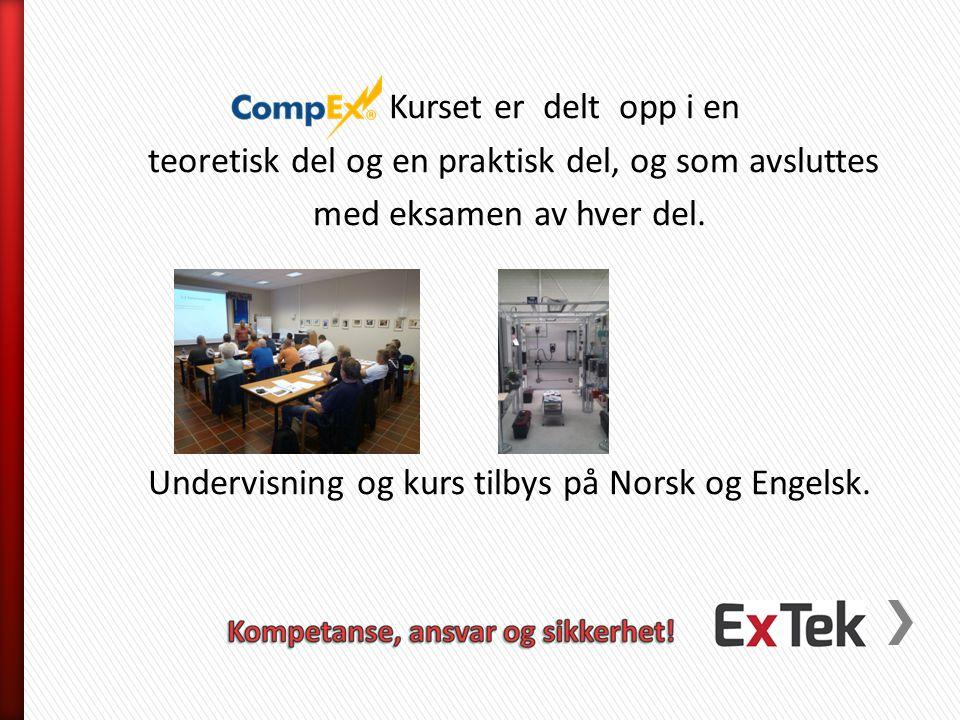 Kurset er delt opp i en teoretisk del og en praktisk del, og som avsluttes med eksamen av hver del. Undervisning og kurs tilbys på Norsk og Engelsk.