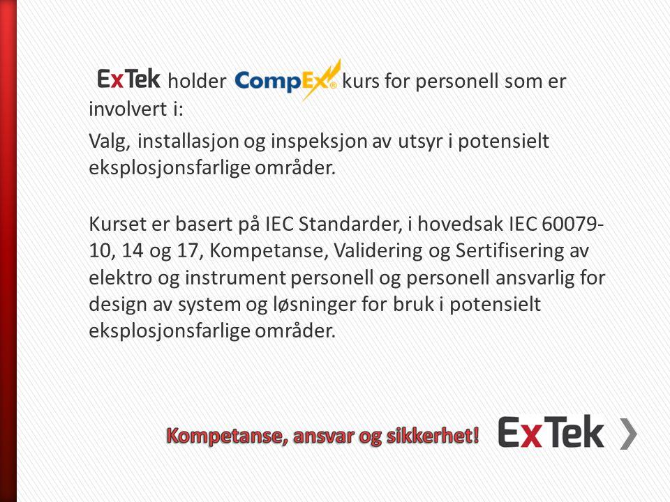 CompEx Ex01 – 04 inneholder følgende