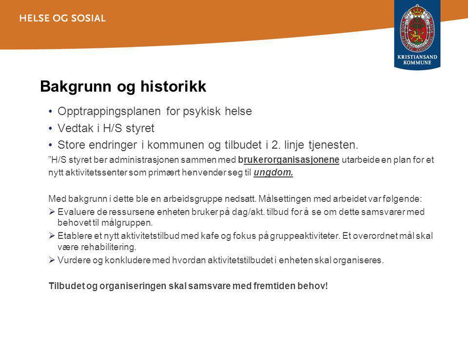 Bakgrunn og historikk Opptrappingsplanen for psykisk helse Vedtak i H/S styret Store endringer i kommunen og tilbudet i 2.