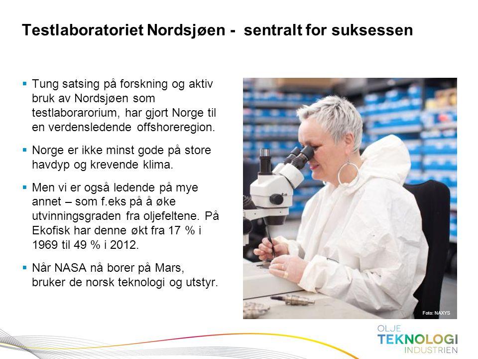 11 Norges Bank Pengepolitikk  Tung satsing på forskning og aktiv bruk av Nordsjøen som testlaborarorium, har gjort Norge til en verdensledende offsho