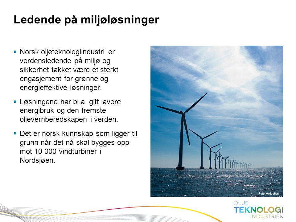 12 Norges Bank Pengepolitikk  Norsk oljeteknologiindustri er verdensledende på miljø og sikkerhet takket være et sterkt engasjement for grønne og ene