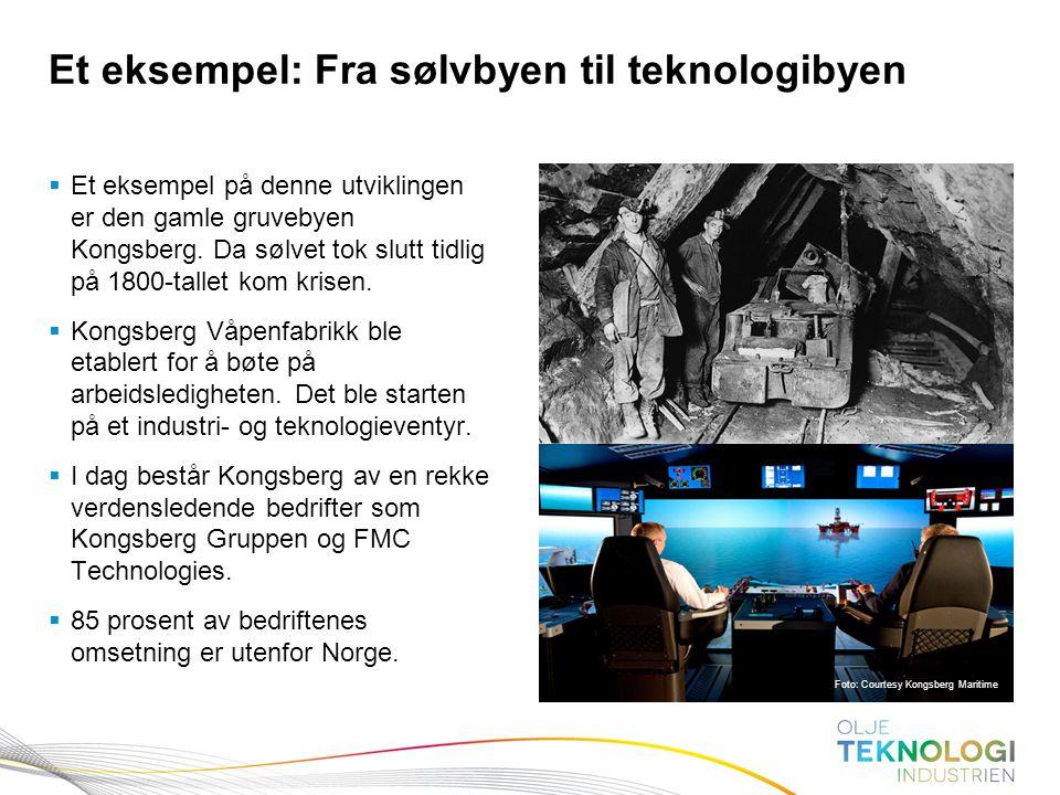 3 Norges Bank Pengepolitikk  Et eksempel på denne utviklingen er den gamle gruvebyen Kongsberg. Da sølvet tok slutt tidlig på 1800-tallet kom krisen.