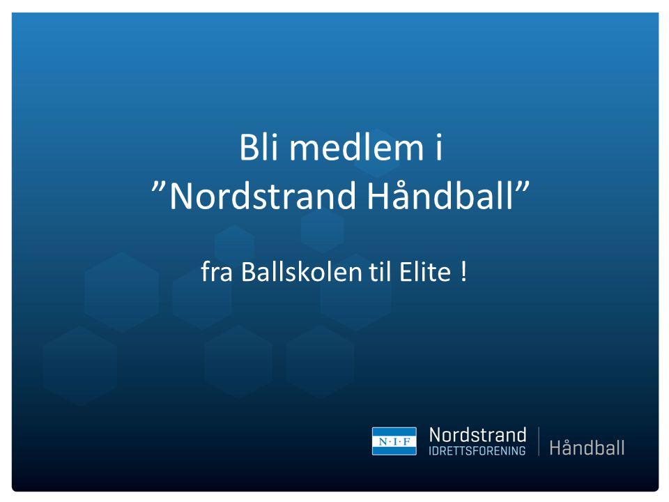 """Bli medlem i """"Nordstrand Håndball"""" fra Ballskolen til Elite !"""