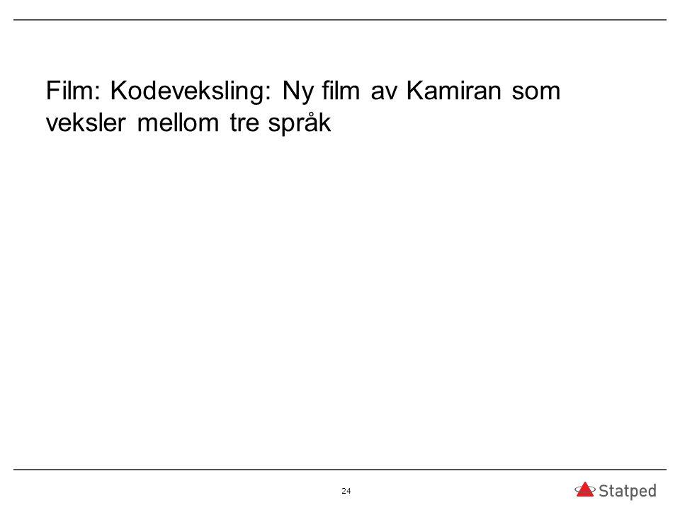 Film: Kodeveksling: Ny film av Kamiran som veksler mellom tre språk 24