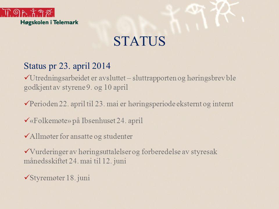 STATUS Status pr 23.