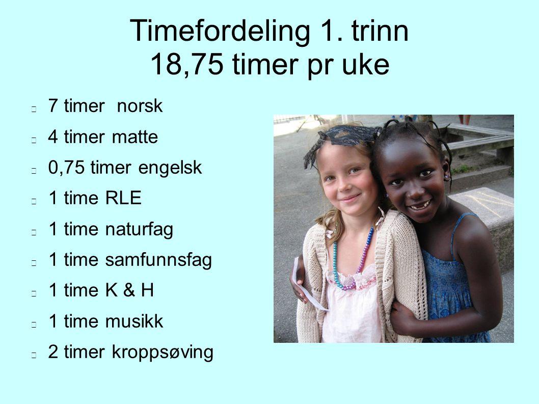 Timefordeling 1.