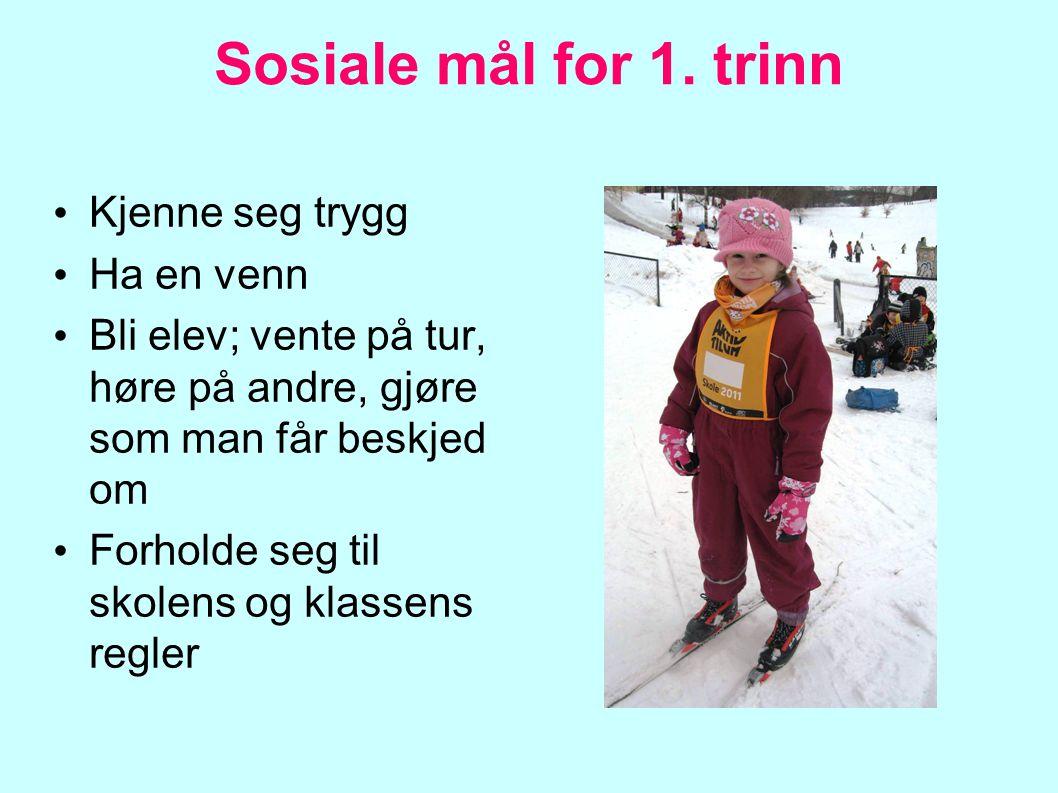 Mål i norsk for 1.