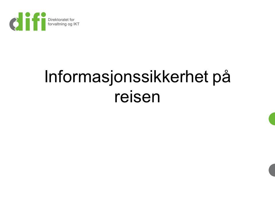 Informasjonssikkerhet på reisen