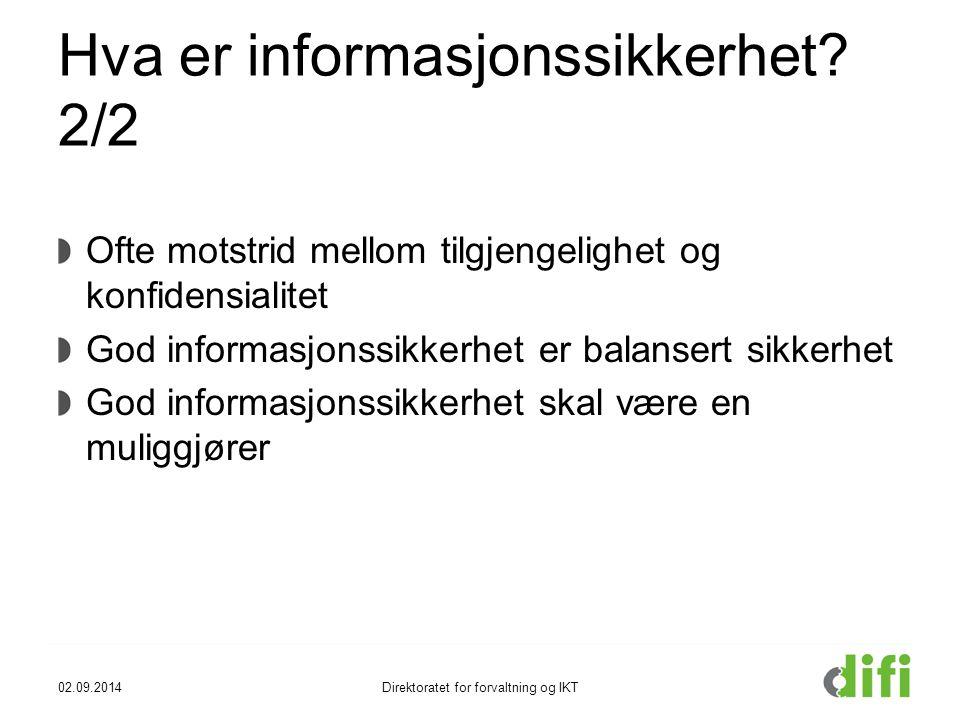 Hva er informasjonssikkerhet.