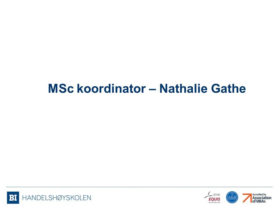 MSc koordinator – Nathalie Gathe