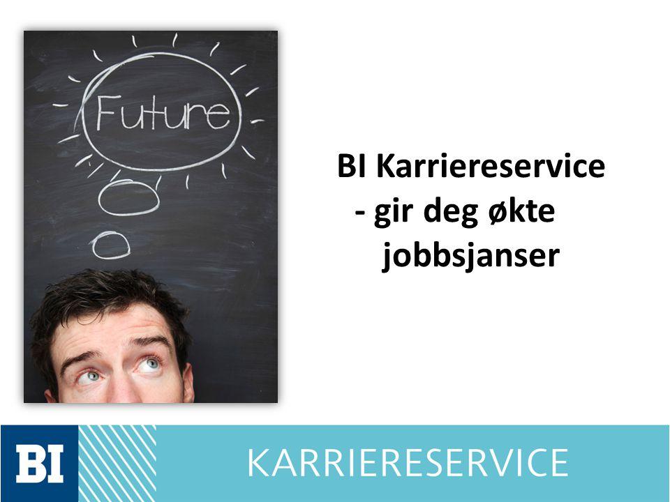BI Karriereservice - gir deg økte jobbsjanser