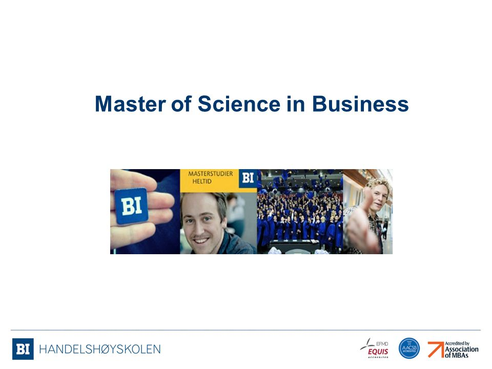 Master of Science in Business