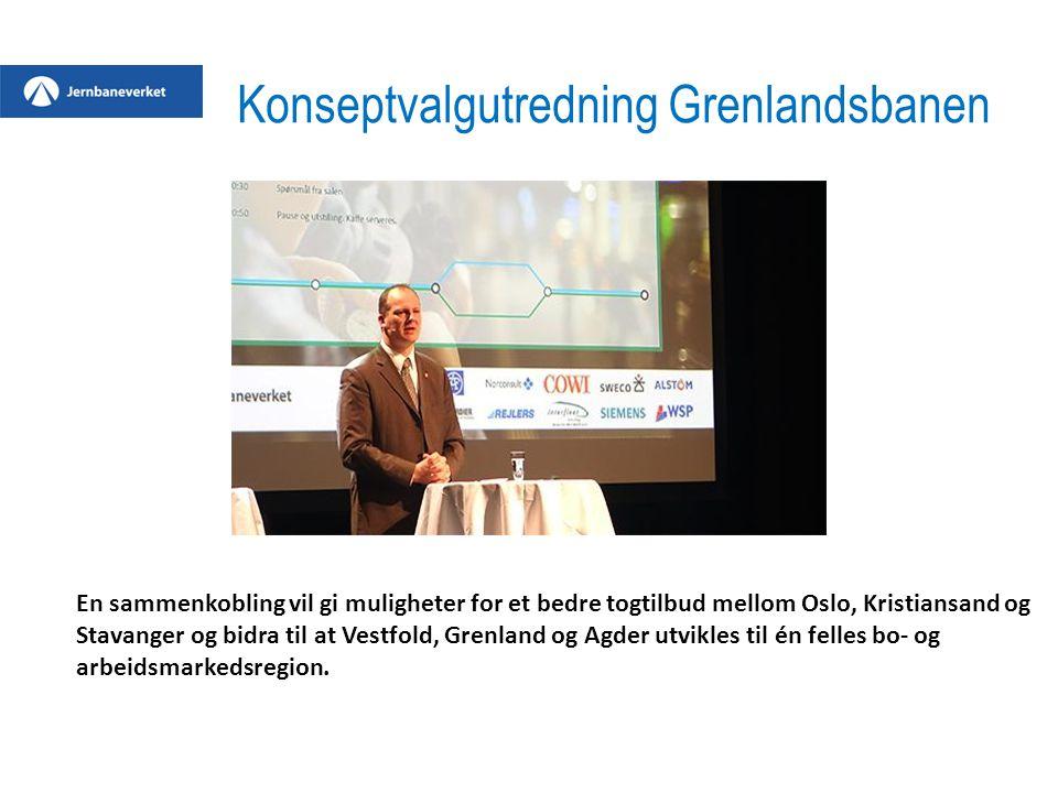 En sammenkobling vil gi muligheter for et bedre togtilbud mellom Oslo, Kristiansand og Stavanger og bidra til at Vestfold, Grenland og Agder utvikles